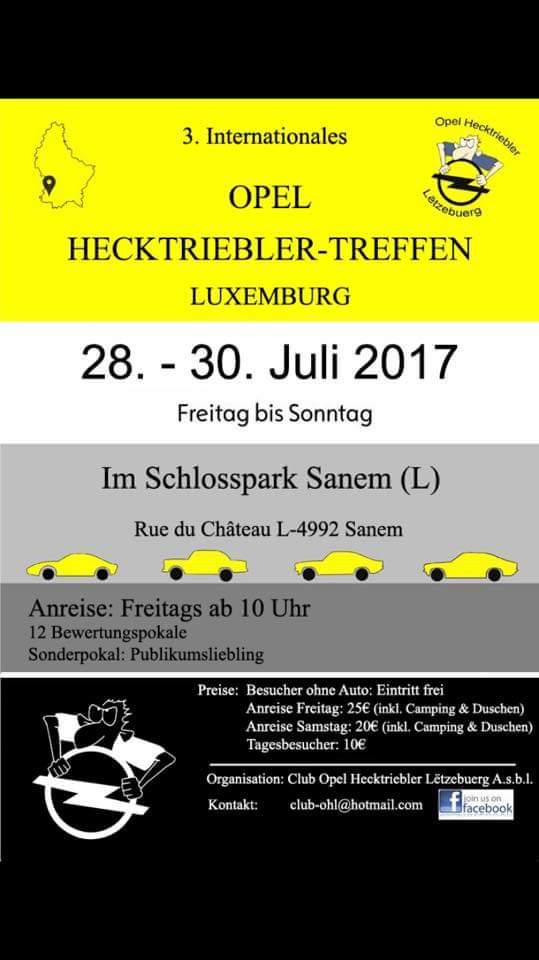 Opel Hecktriebler-Treffen Luxemburg 2017