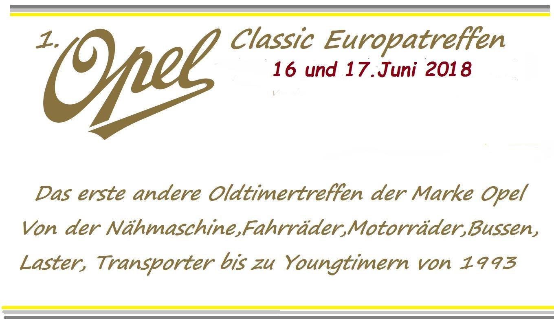 1.Opel Classic Europatreffen