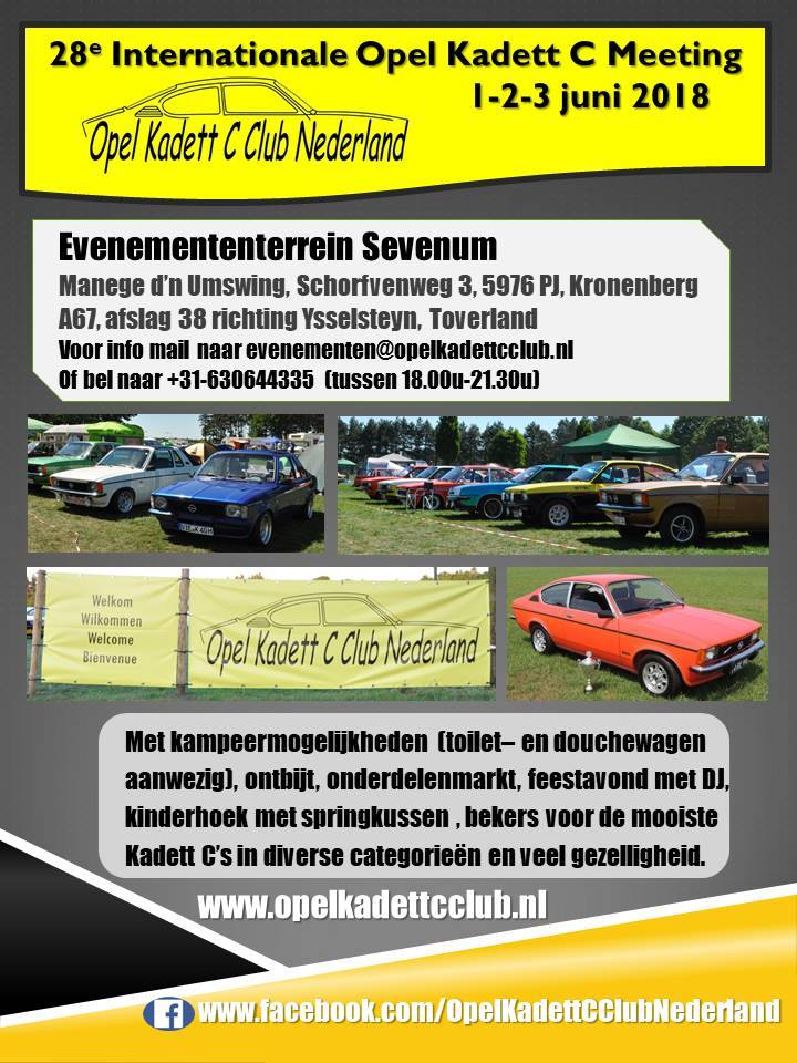 28e Internationale Kadett C Meeting Sevenum