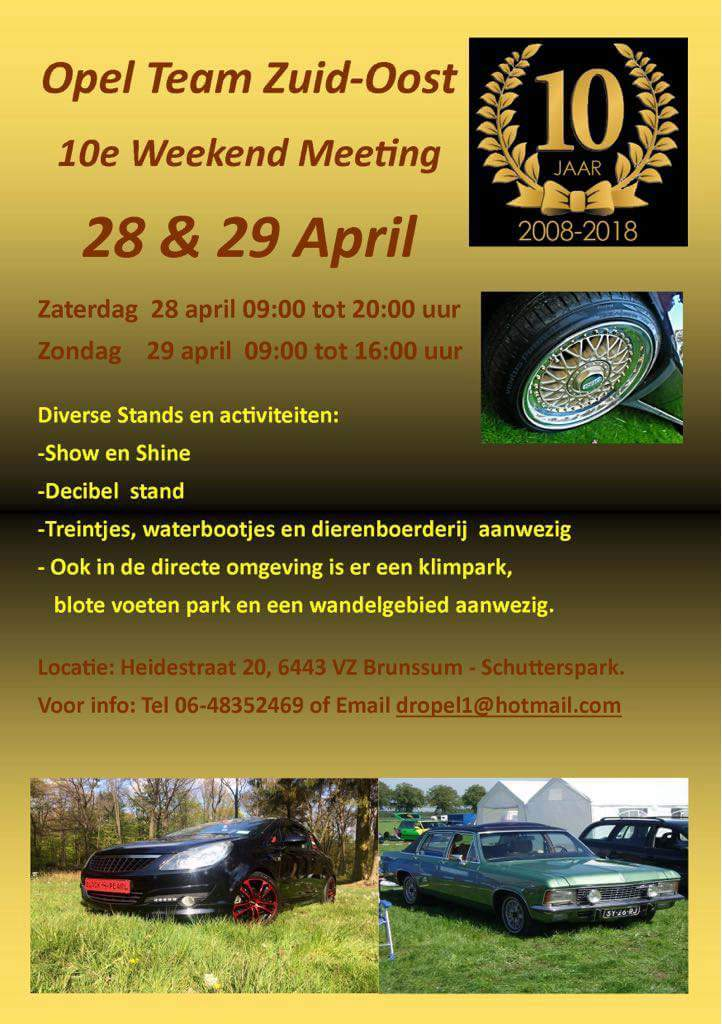 10e weekend meeting Opel Team Zuidoost