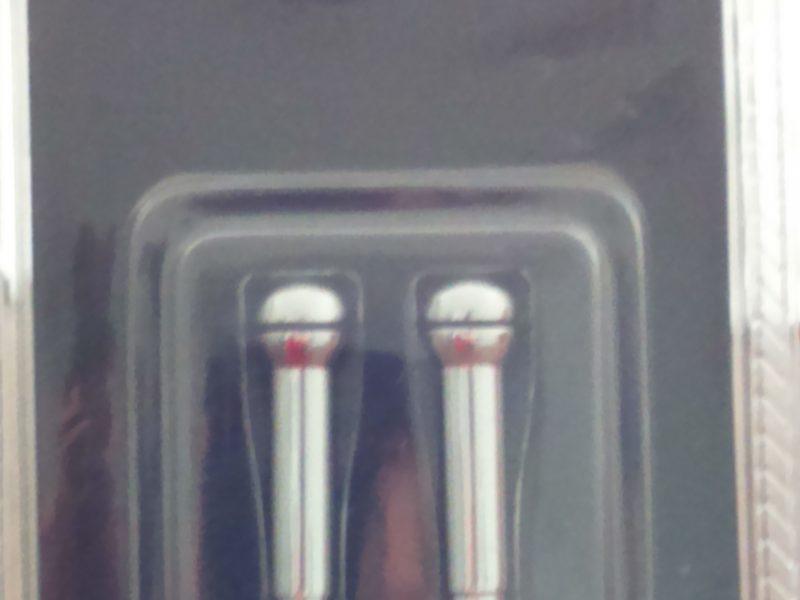 Opel aluminium Ronde deurslot pennen in chroom
